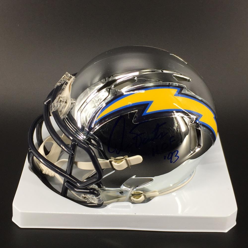 HOF - Chargers Dan Fouts Signed Chrome Mini Helmet
