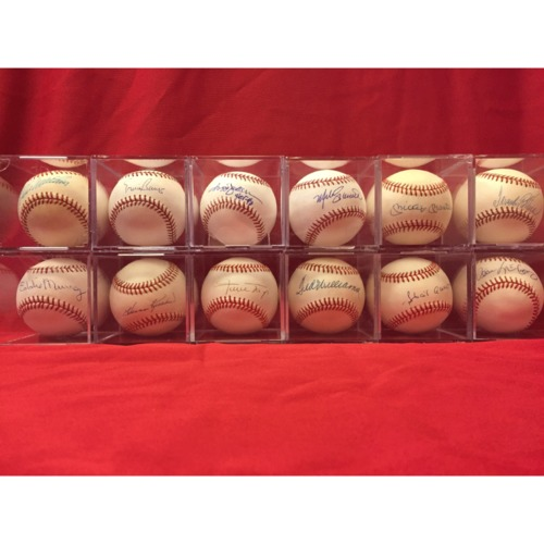 Photo of 500 Home Run Club Autographed Baseball Collection, including, Mike Schmidt, Hank Aaron, and Mickey Mantle