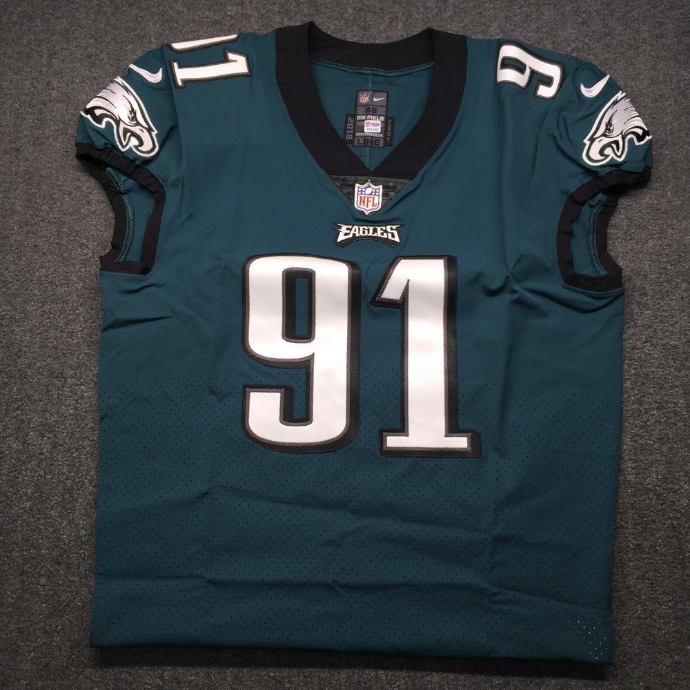 NFL Auction   NFL - Eagles Fletcher Cox Signed Authentic Jersey ...