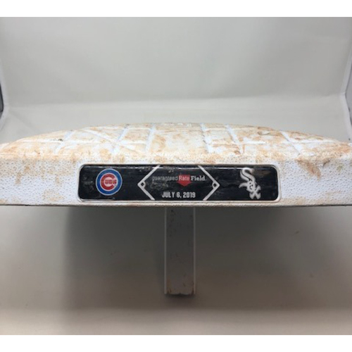 Photo of Game-Used Base from July 6, 2019: White Sox vs. Cubs (First Base)