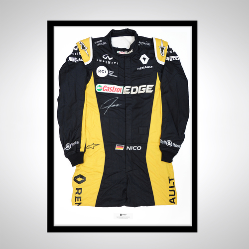 Photo of Nico Hulkenberg 2017 Race Spare Signed Race Suit - Renault F1 Team