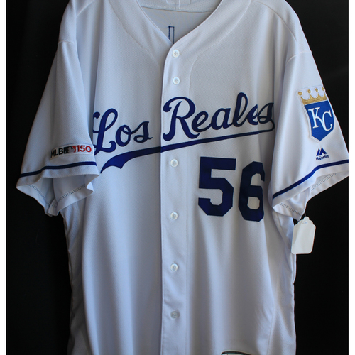 Photo of Team-Issued Los Reales Jersey: Brad Keller (Size 50)