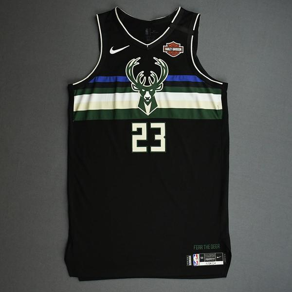 Image of Sterling Brown - Milwaukee Bucks - 2020 NBA Paris Games - Game-Issued Statement Edition Jersey