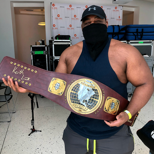 Photo of Keith Lee SIGNED NXT North American Championship Replica Title