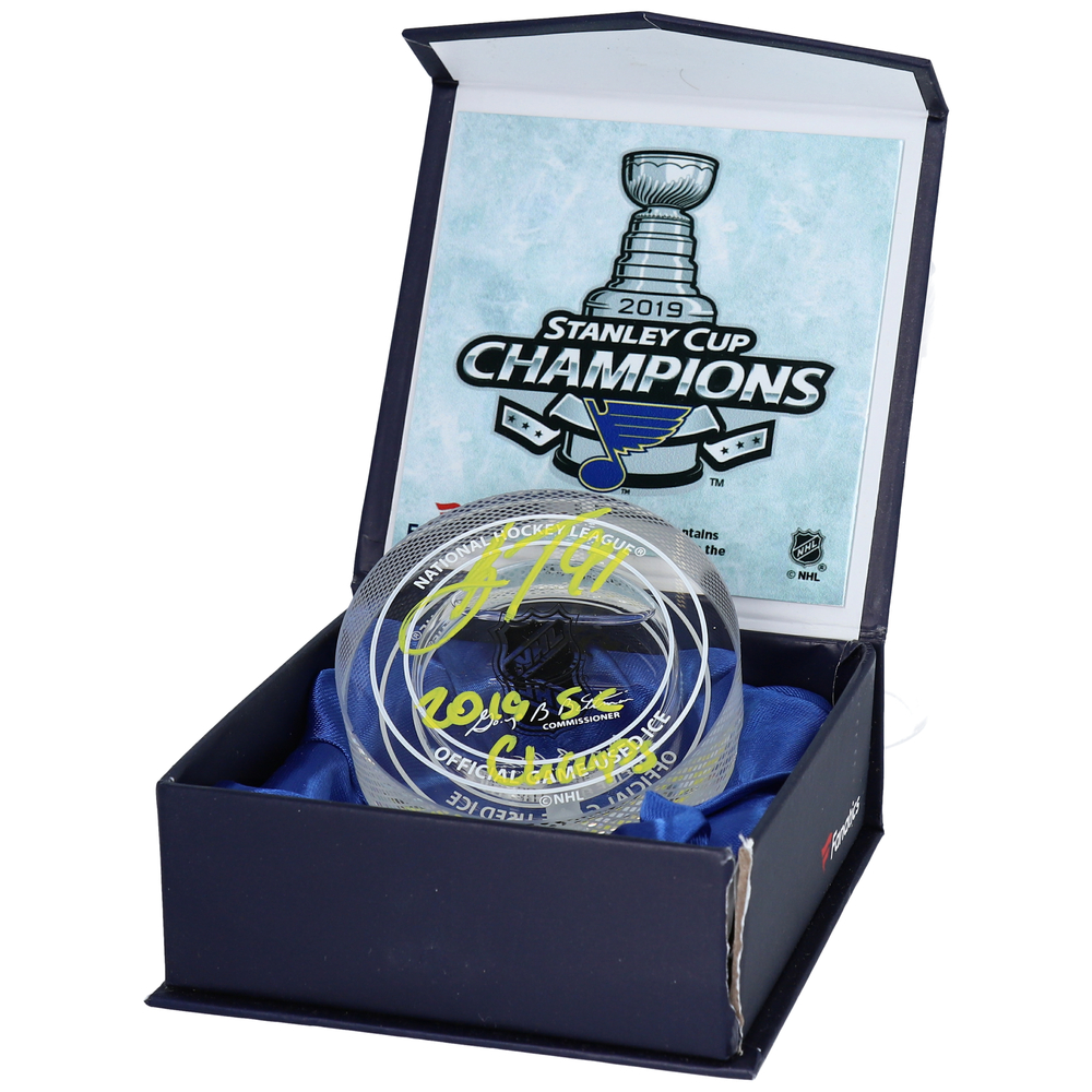 Vladimir Tarasenko St. Louis Blues 2019 Stanley Cup Champions Autographed Crystal Hockey Puck with