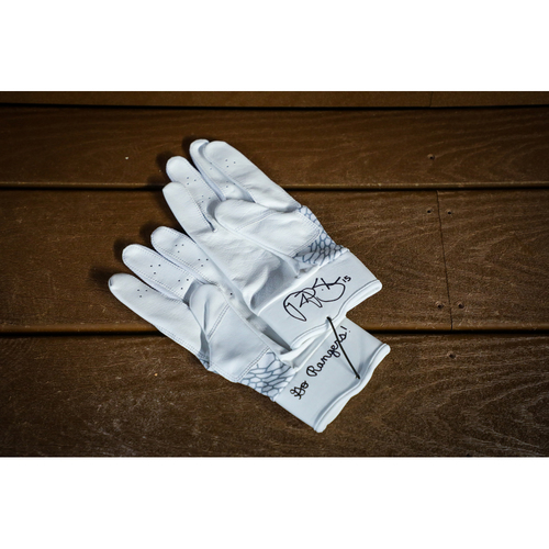 Photo of Nick Solak Autographed Batting Gloves - NOT MLB AUTHENTICATED - Certificate of Authenticity Included