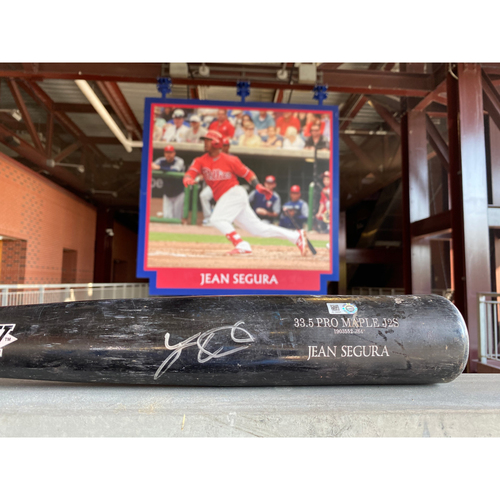 Photo of Phillies All-Star Infielder Jean Segura Game-Used Autographed Bat