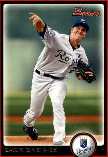 Photo of 2010 Bowman #5 Zack Greinke