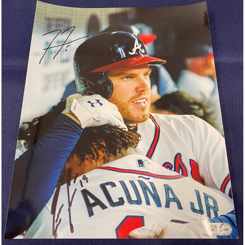 Freddie Freeman and Ronald Acuna Jr. Autographed Photo