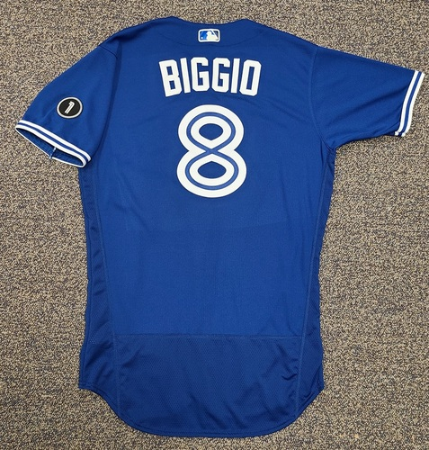 Photo of Authenticated Team Issued Jersey: #8 Cavan Biggio (2020 Season). Set 2. Size 42.