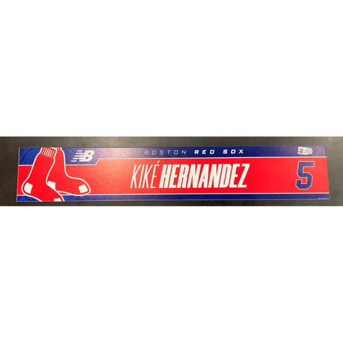 Photo of Enrique Hernandez July 11, 2021 Game Used Locker Tag