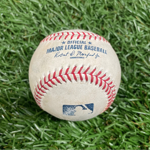 Photo of Game Used Baseball: Jake Fraley double off Luis Patino - Top 2 - August 3, 2021 v SEA