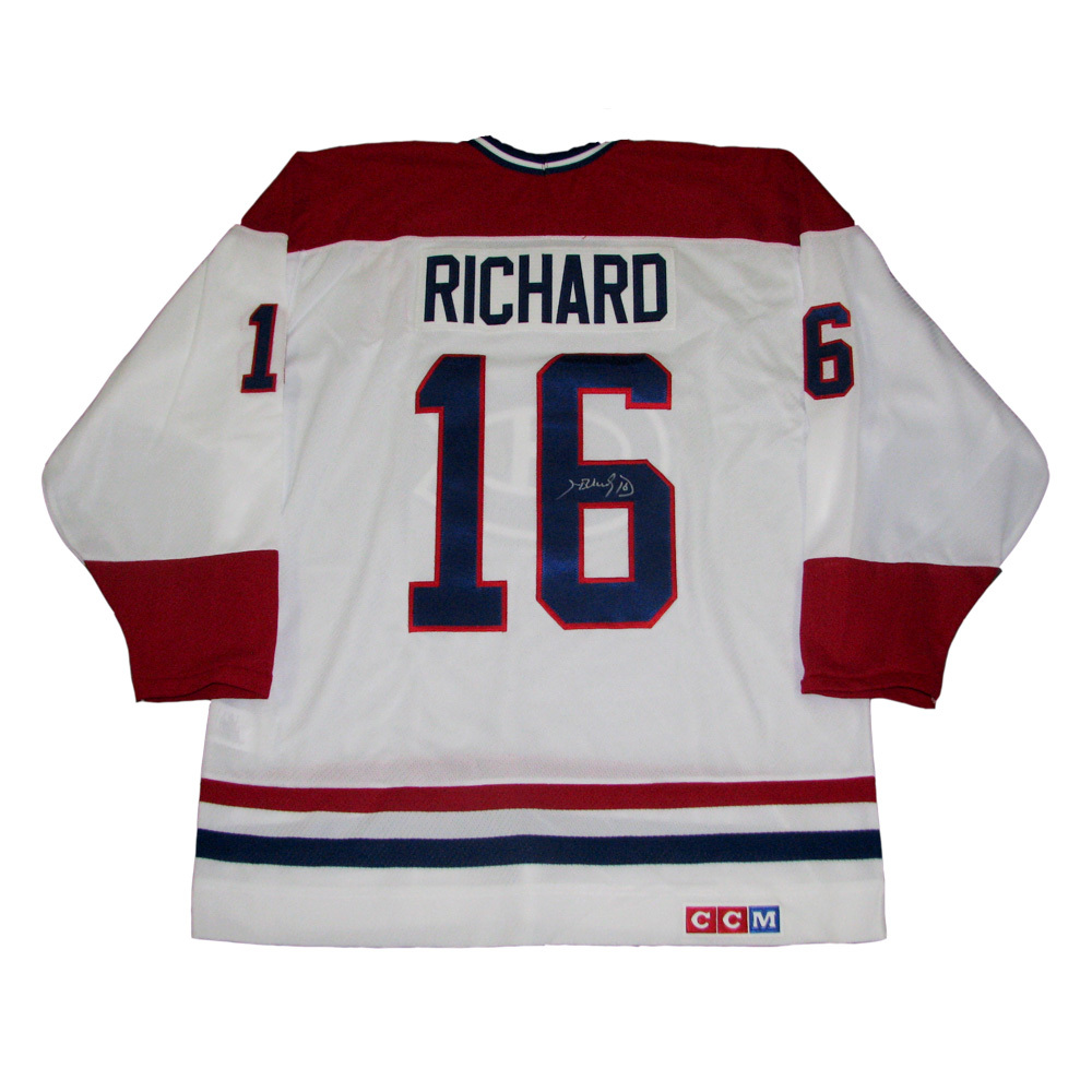 HENRI RICHARD Signed Montreal Canadiens White CCM Jersey