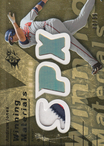 Photo of 2007 SPx Winning Materials 99 Gold #AJ Andruw Jones/99