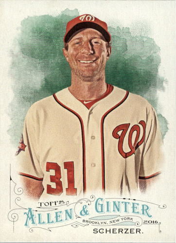 Photo of 2016 Topps Allen and Ginter #170 Max Scherzer -- Nationals post-season