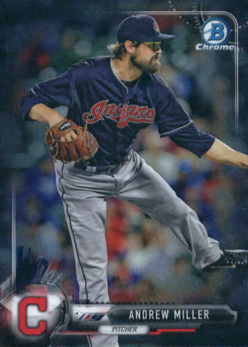 Photo of 2017 Bowman Chrome #20 Andrew Miller -- Indians post-season