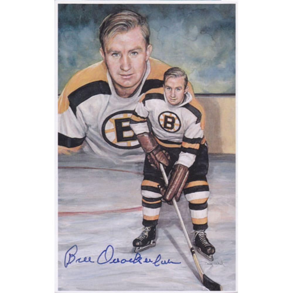 RARE Bill Quackenbush Autographed Boston Bruins Limited-Edition Legends of Hockey Card