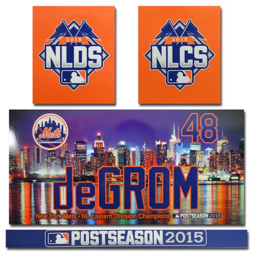 Jacob deGrom #48 - Game Used Locker Nameplate Set - 2015 Postseason