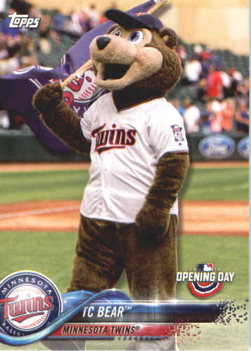 Photo of 2018 Topps Opening Day Mascots #M15 TC Bear