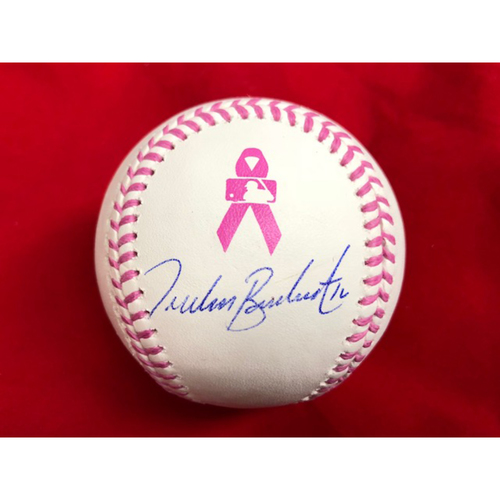 Photo of Tucker Barnhart -- Autographed Mother's Day Baseball