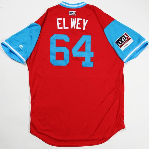 "Photo of Victor ""El Wey"" Arano Philadelphia Phillies Game-Used Jersey 2018 Players' Weekend Jersey"