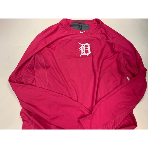 Photo of 2017 Team-Issued Pink Dri-Fit Shirt: Michael Fulmer