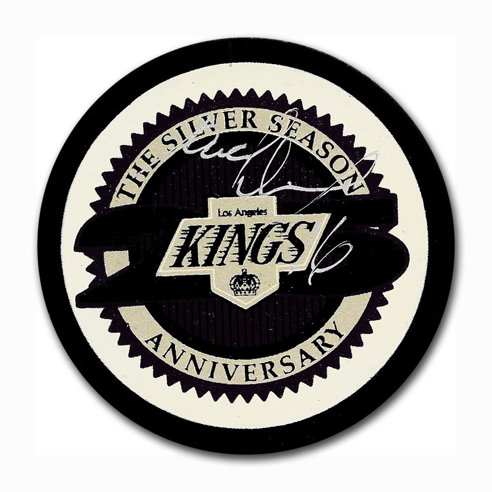 Marcel Dionne Autographed Los Angeles Kings 25th Anniversary Puck