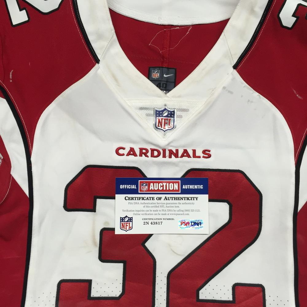 NFL Auction   STS - Cardinals Tyrann Mathieu Game Worn Jersey ...