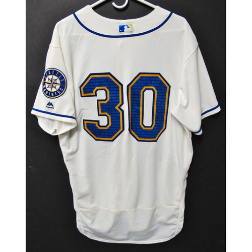 Photo of Seattle Mariners Kyle Lewis Game-Used Marineros Jersey (Salute to Latin American) 9-15-2019