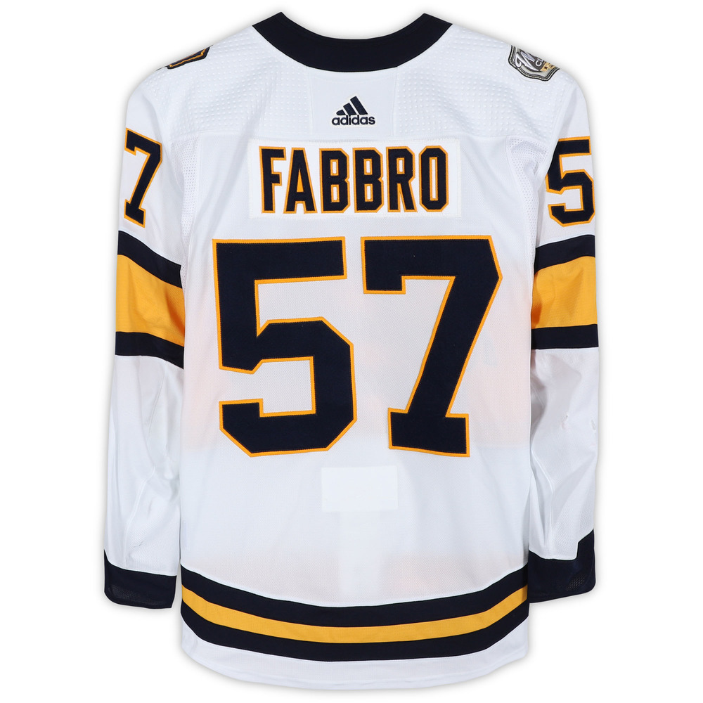 Dante Fabbro Nashville Predators Game-Used 2020 NHL Winter Classic Jersey - Worn During First Period