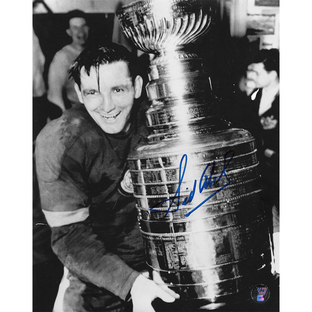 Sid Abel (deceased) Autographed Detroit Red Wings 8X10 Photo
