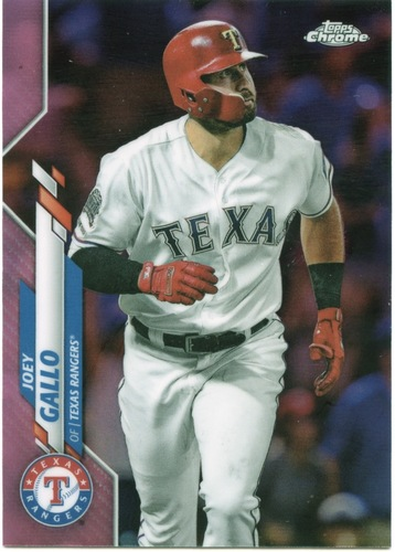 Photo of 2020 Topps Chrome Pink Refractors #191 Joey Gallo