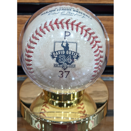 Photo of David Ortiz Final Season Game Ready Baseball # 37