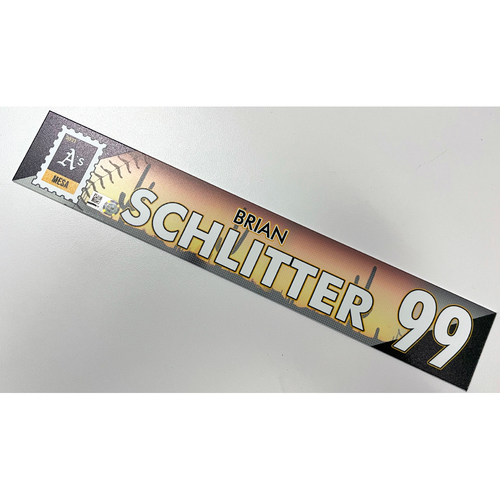 Photo of Game-Used 2021 Spring Training Locker Nameplate - Brian Schlitter