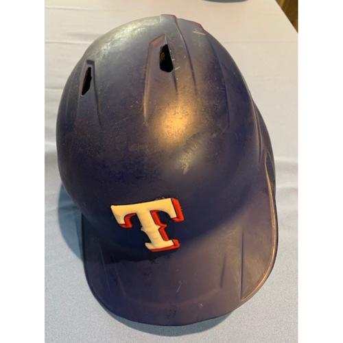 Photo of Elvis Andrus GAME-USED 2020 Opening Day Blue Batting Helmet