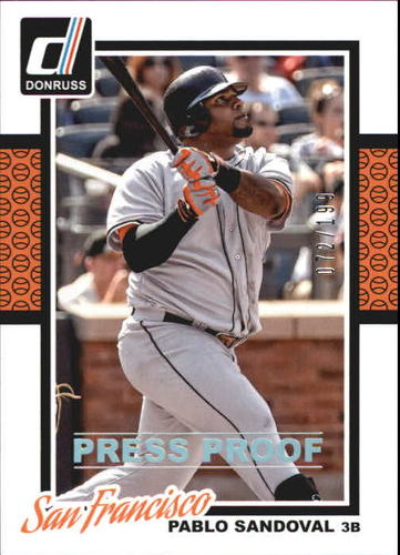 Photo of 2014 Donruss Press Proofs Silver #159 Pablo Sandoval