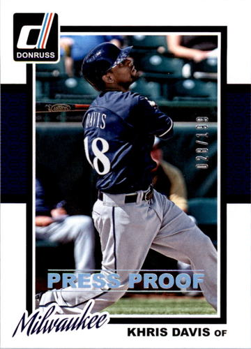 Photo of 2014 Donruss Press Proofs Silver #312 Khris Davis