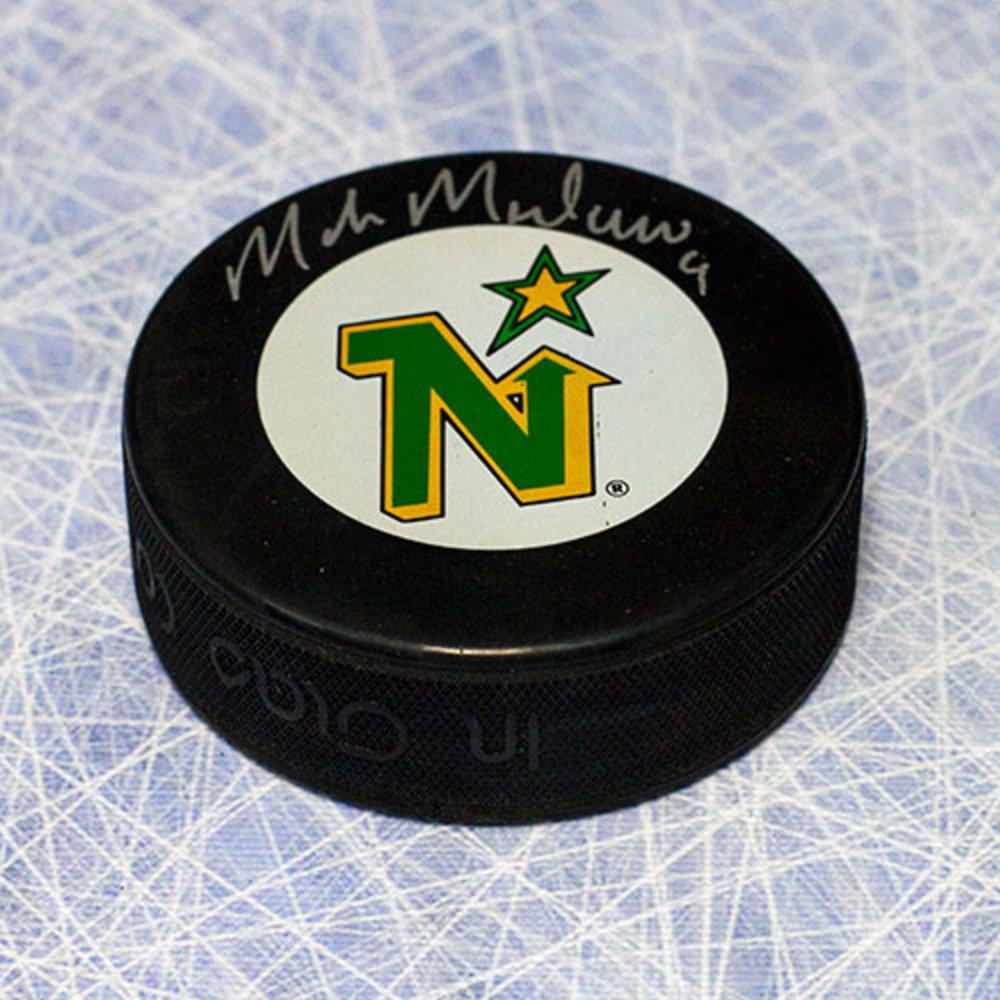 Mike Modano Minnesota North Stars Autographed Hockey Puck