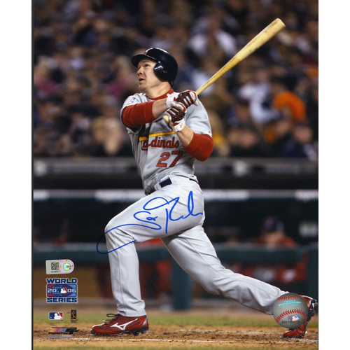 Photo of Cardinals Authentics: Scott Rolen Autographed 2006 World Series Photo