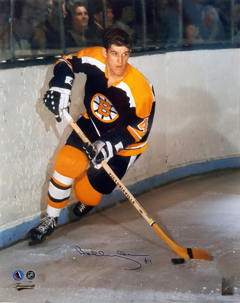 Bobby Orr - Signed 16x20 Bruins Dark Action