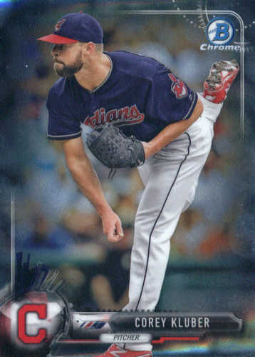 Photo of 2017 Bowman Chrome #41 Corey Kluber -- Indians post-season