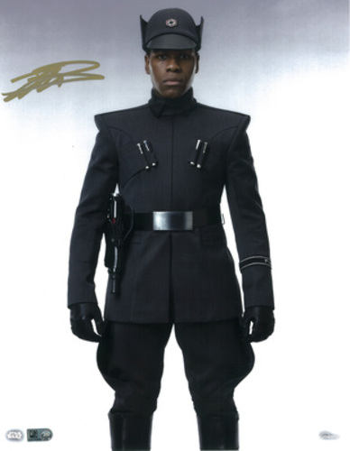 John Boyega as Finn 11x14 Autographed in Gold Ink Photo