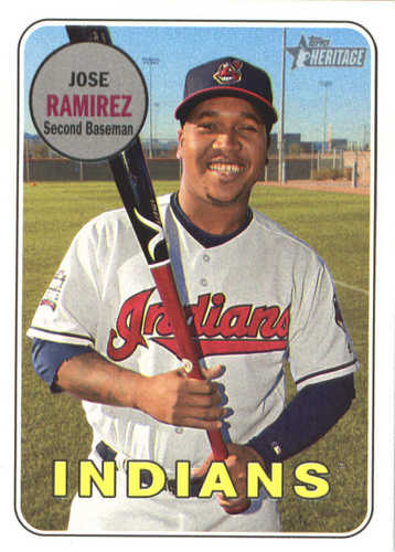 Photo of 2018 Topps Heritage #291 Jose Ramirez