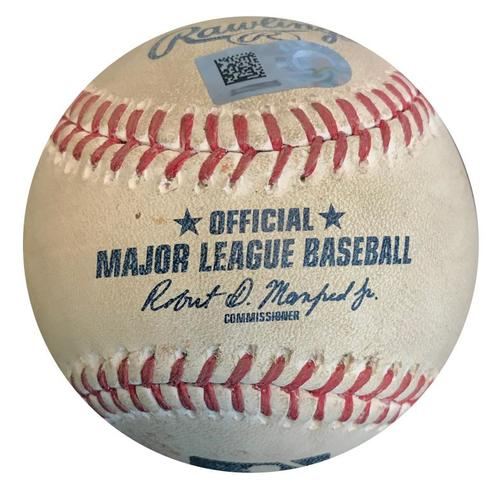 Photo of Game-Used Baseball from Pirates vs. Tigers on 4/25/18 (Game 2) - Boyd to Rodriguez, Foul