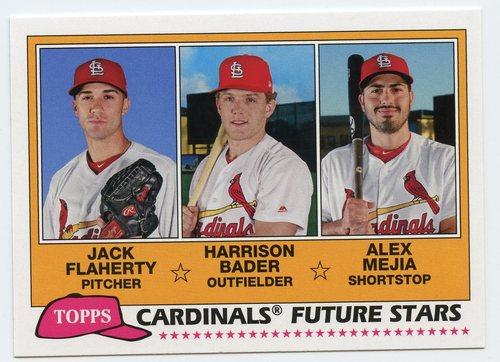 Photo of 2018 Topps Archives '81 Future Stars #FSSTL Alex Mejia/Jack Flaherty/Harrison Bader