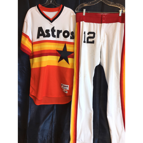 Photo of Max Stassi Game-Used Turn-Back The Clock Uniform