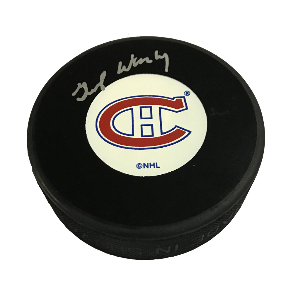 GUMP WORSLEY Signed Montreal Canadiens Original Six/Old Style Logo Puck