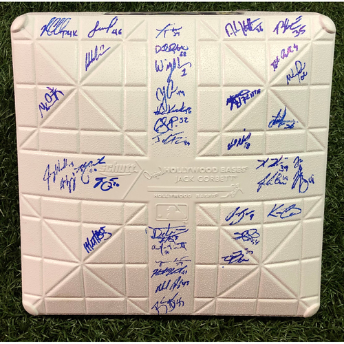 Photo of 20th Anniversary Team Autographed Base - Autographs Include Cy Young Award Winner Blake Snell, Rookie of the Year Nominees Joey Wendle and Ryan Yarbrough and AL Manager of the Year Nominee Kevin Cash