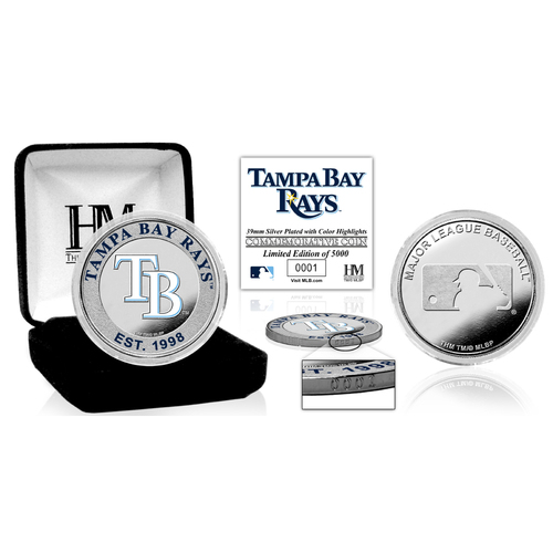 Photo of Serial #1! Tampa Bay Rays Silver Color Coin