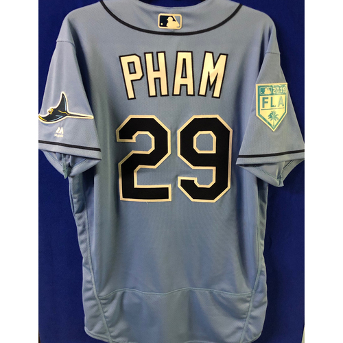 Photo of Game Used Spring Training Jersey: Tommy Pham - March 26, 2019 v DET